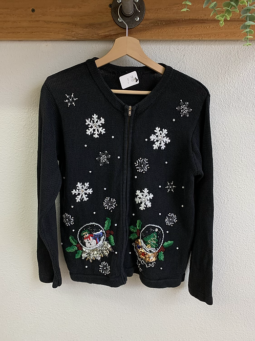 Vintage Embroidered Christmas Sweater