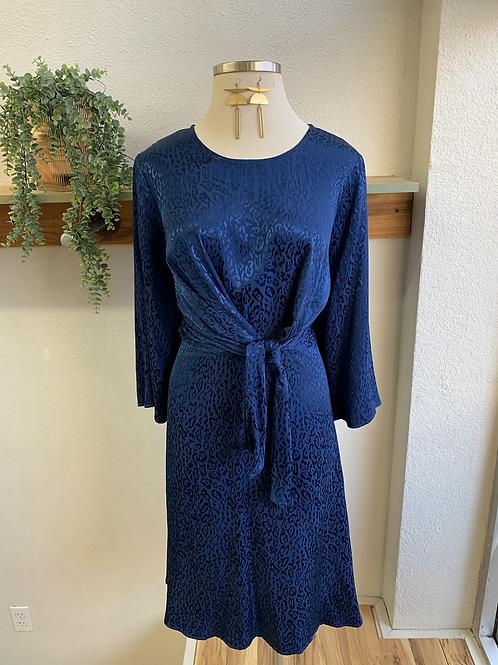 NWT Eloquii Sapphire Blue Leopard Print Dress