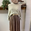 Thumbnail: Satin Taupe Skirt