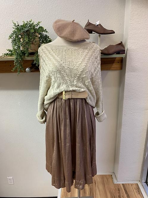 Satin Taupe Skirt