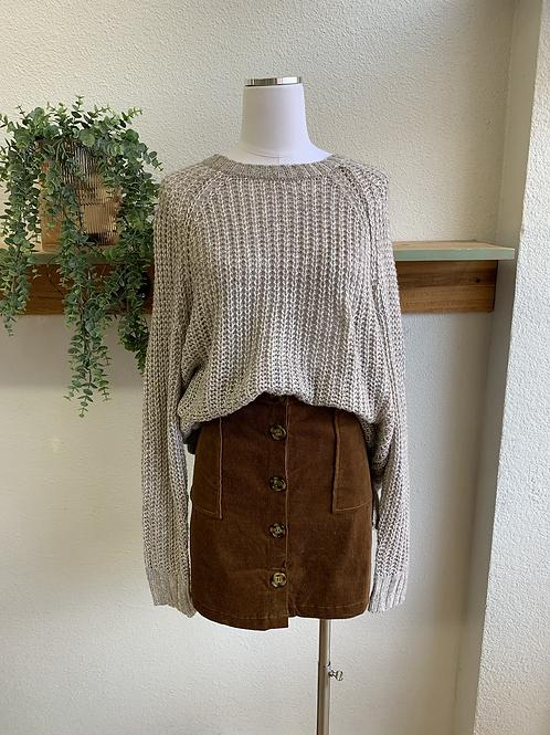 New Arrival | Corduroy Buttondown Skirt