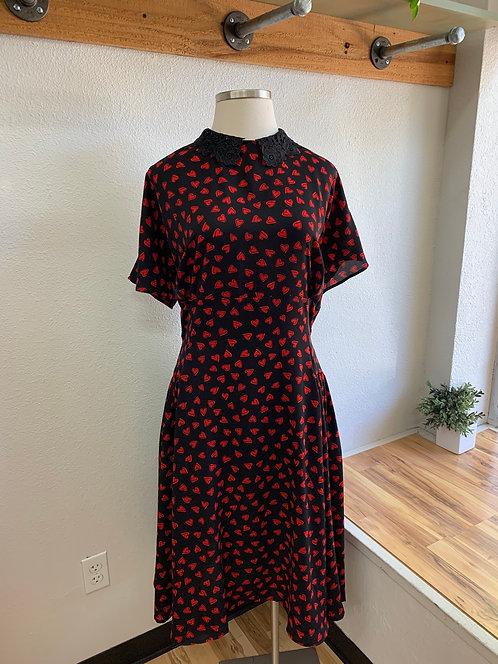 NWT Unique Vintage Heart + Lace Dress