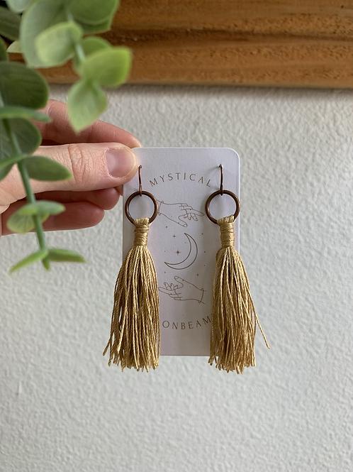 Handmade | Gold Tassel Earrings
