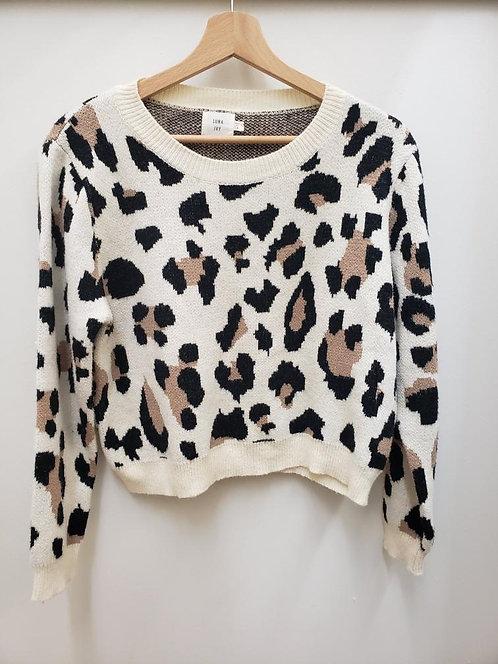 Semi Crop Leopard Print Sweater
