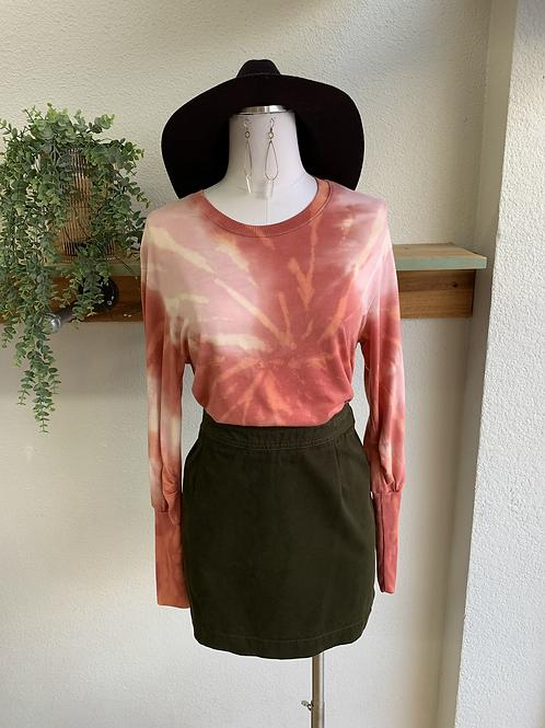 Tie-Dye Long Sleeve Top