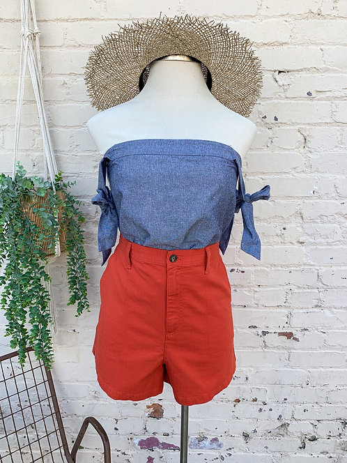 """Madewell Camper Shorts """"Chili Red"""""""