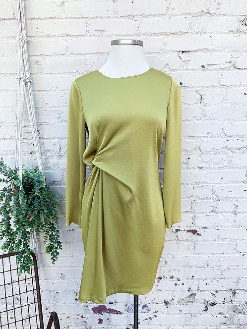 Ann Taylor Chartreuse Satin Dress