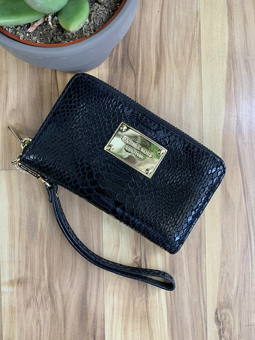 Michael Kors Snakeskin Wristlet Wallet