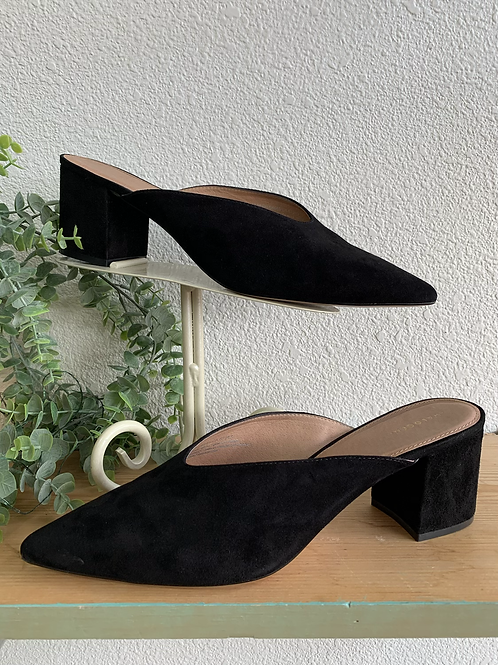 Halogen Leather Heeled Mules