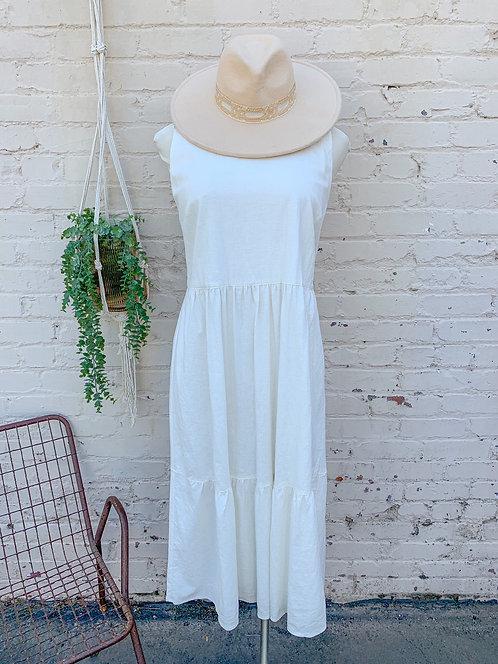NWT Tahari Tiered Linen Dress