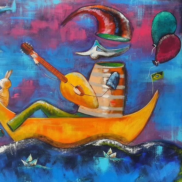 O Mar dos Desejos 50x60 Técnica Mista