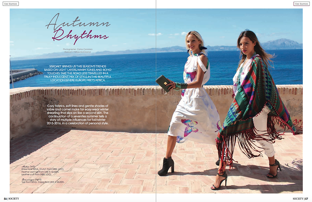 SENA DESIGN in Marbella Society Magazine October 2015