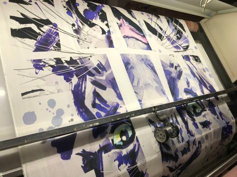 The printing process ...