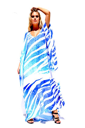 V-NECK SILK KAFTAN