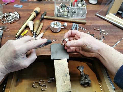Jake Mikoda Jewellery work in progress.j