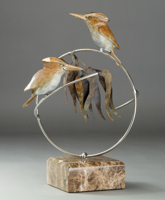 A Pair of Kookaburras on a ring
