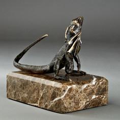 Lizard Bronze Sculpture by Australian Artist Jake Mikoda