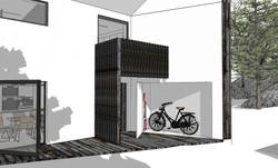 ingang og sykkel