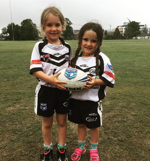 Great to see how much fun girls have playing junior league #LetThemPlay #adifferentleague #girlscanp