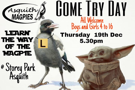 Come and Try Day Thursday 19th December