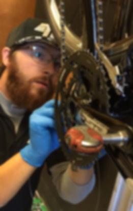 Dylan Repairing a bike