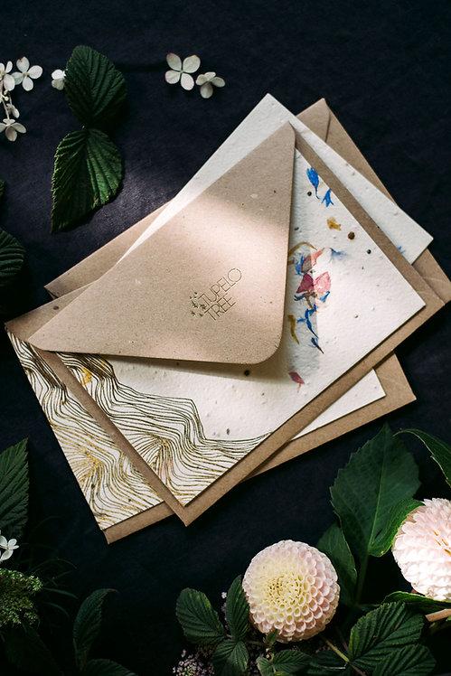 Plantable letter writing set