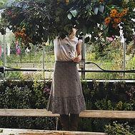 green install hanging flowers Secret Herb Garden