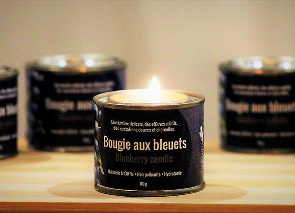 Bougie de massage aux bleuets