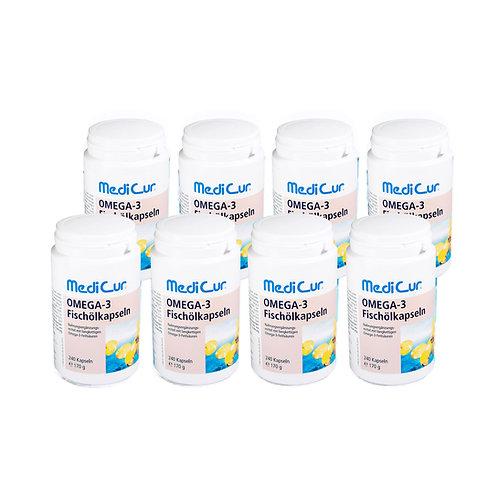 8 Dosen Omega-3 Fischölkapseln