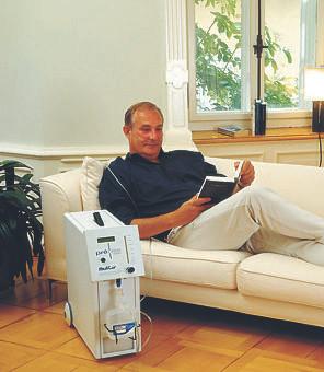 Mann bei der Sauerstofftherapie