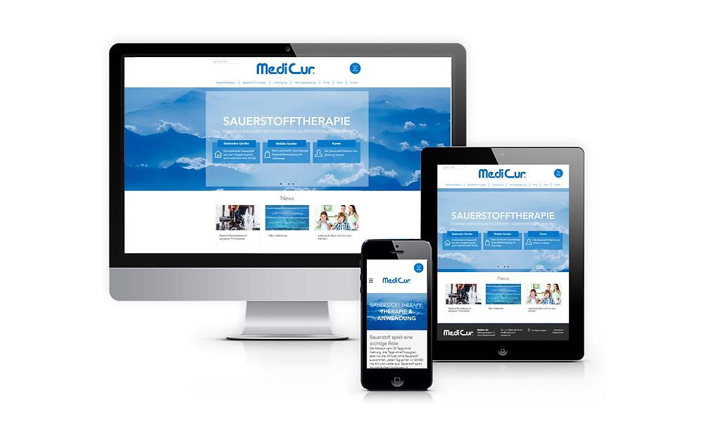 MediCur Website Präsentation
