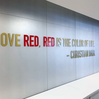 Dior Red Quote