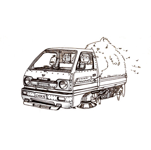 Hovertruck Drawing