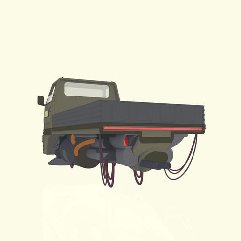 Hovertruck 3D Model