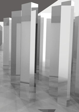 Mirrored Forest POV Render