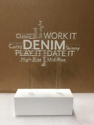 WHBM Denim Signage