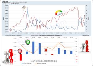 FRED今年以來美股和恐慌指數走勢/台灣人持有境外基金