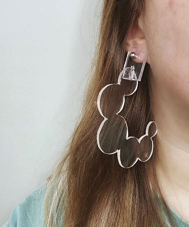 plexi earrings - Mackenzie Lauren Wells.