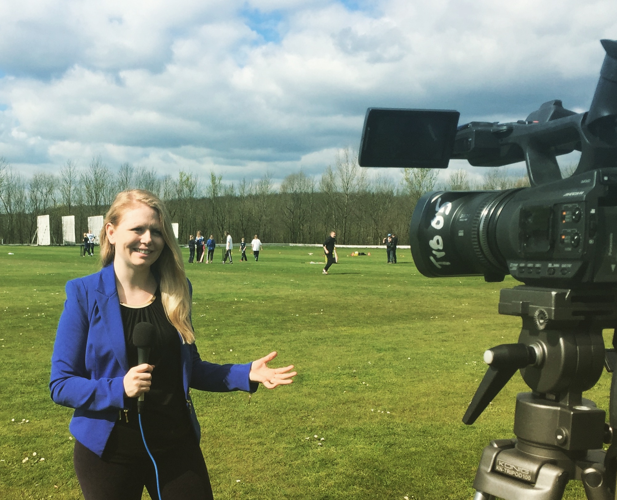 Filming at Denby Cricket Club