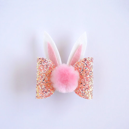 Bunny Bow - Coral