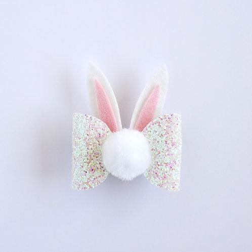 Bunny Bow - Iridescent White