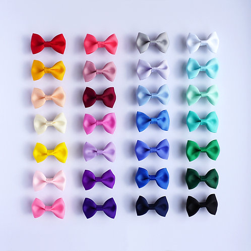 Grosgrain Pinched Bow Clip