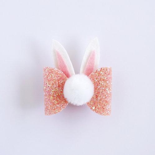 Bunny Bow - Peach