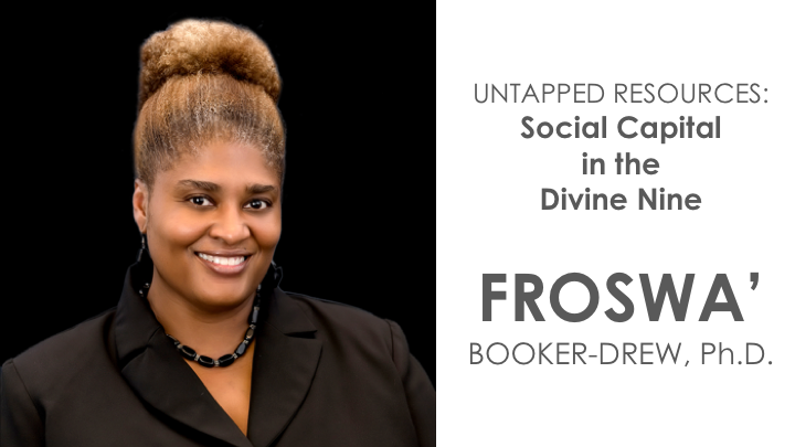 Dr. Froswa' Booker-Drew, Director of Community Affairs and Strategic Alliances for the State Fair of Texas, co-founder of the HERitage Giving Fund, social capital scholar, and member of Alpha Kappa Alpha Sorority, Inc.