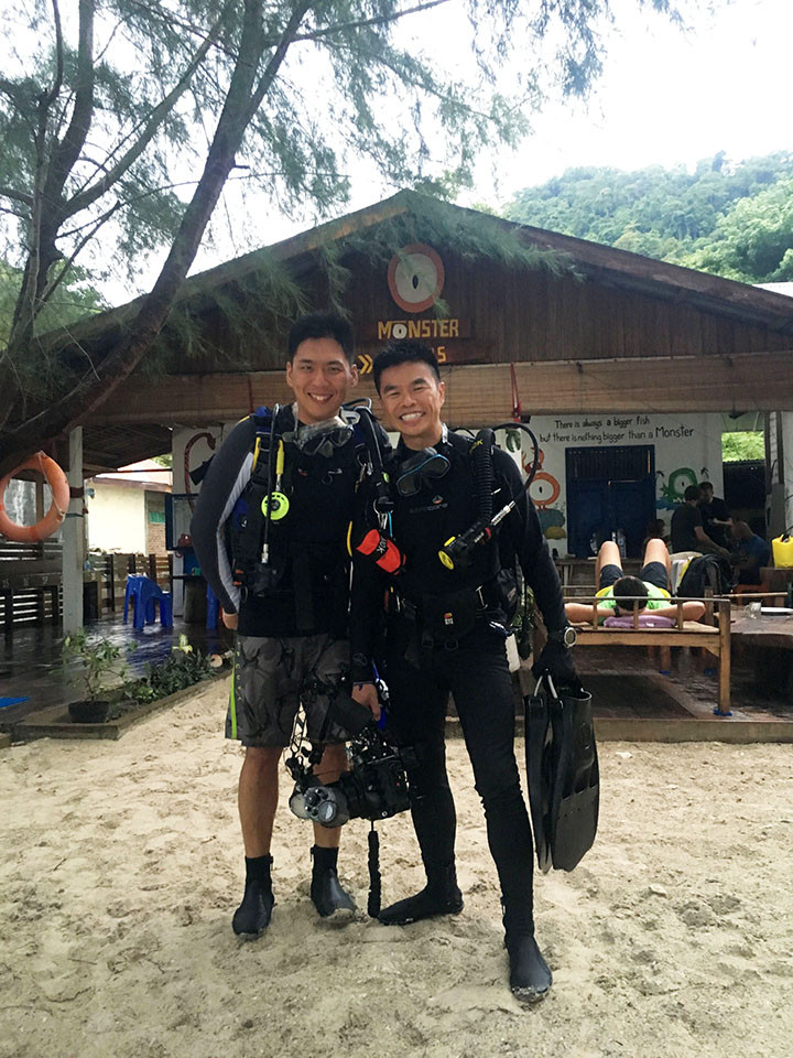 Chee Seong, my Malaysia dive buddy in crime