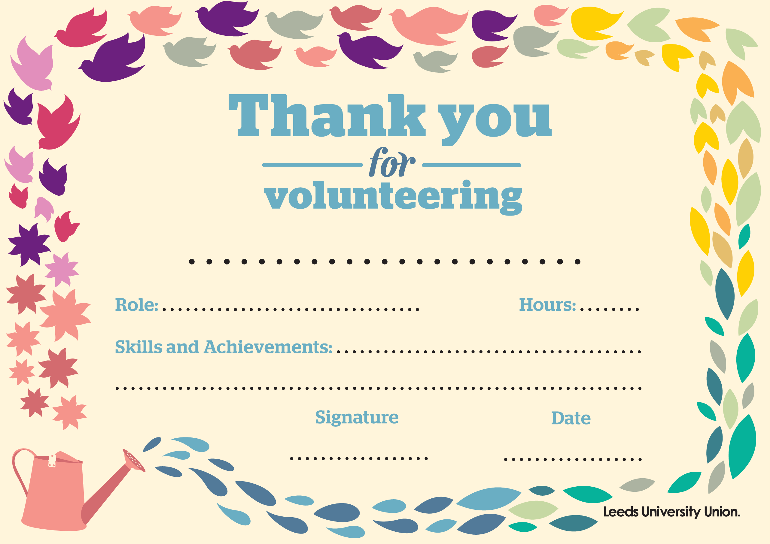 Volunteering Certificate