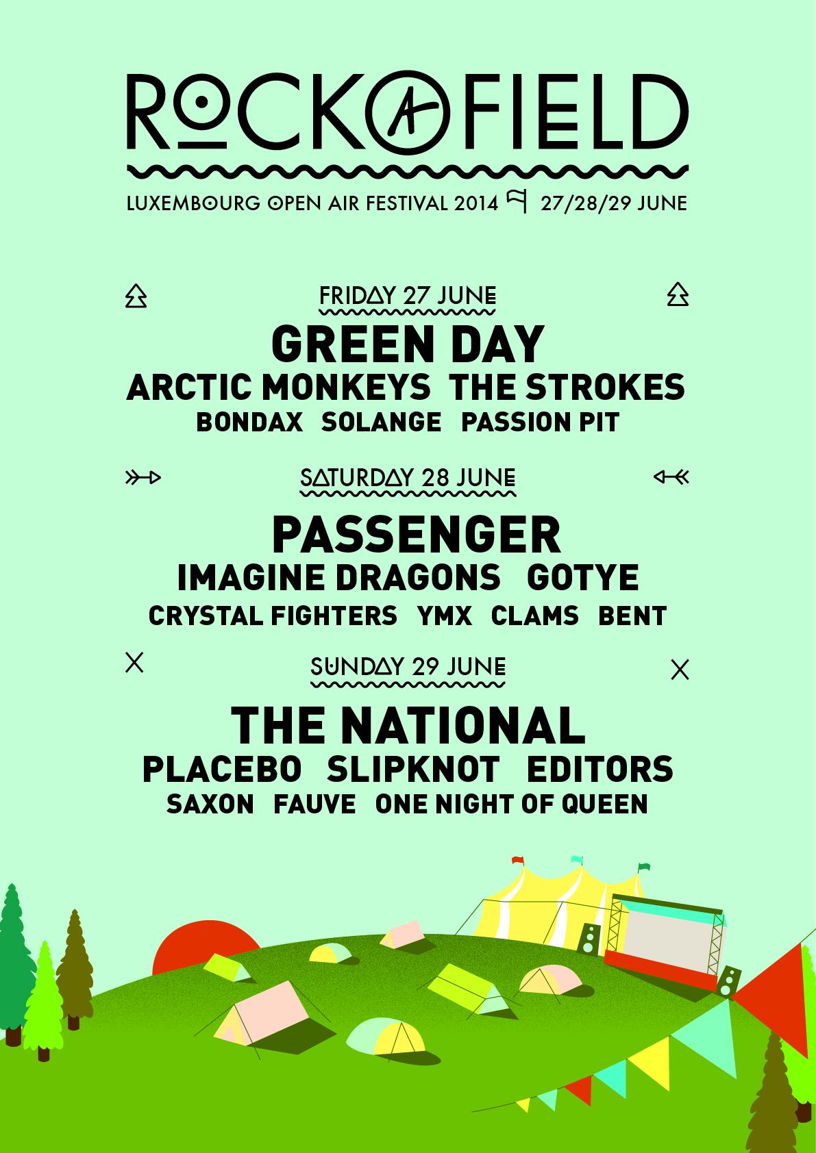 Rock-a-Field Festival Poster