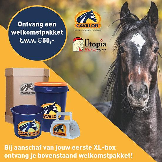 Cavalor XL-box met welkomstpakket t.w.v. €50,-