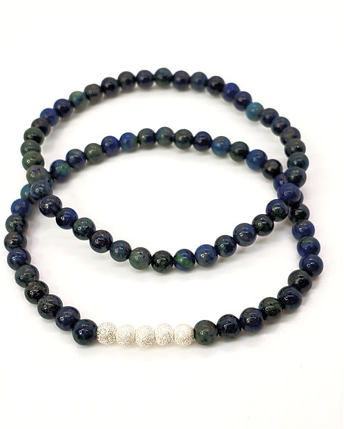 Azurite-Malachite Bracelet Set