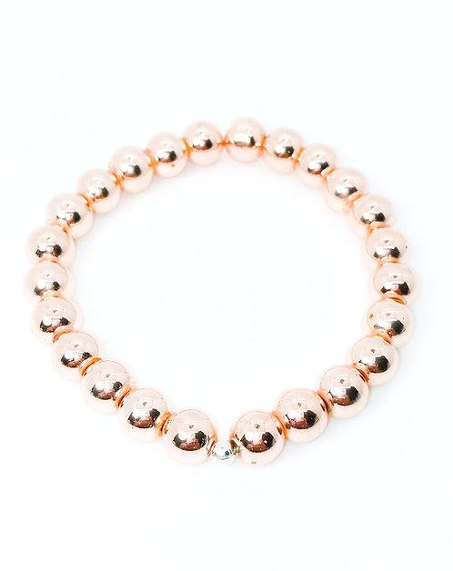 Hematite Metallic Rose Gold Bracelet